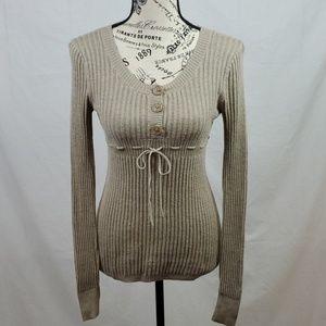 Women's Sweater/Tan/Size: Small (302)